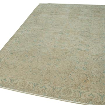 """Vintage Turkish Hand-Knotted Rug - 5' 11"""" x 9' 5"""" (71 in. x 113 in.) - K0050886"""