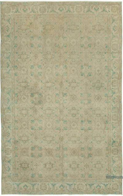 """Vintage Turkish Hand-knotted Area Rug - 5' 11"""" x 9' 5"""" (71 in. x 113 in.)"""