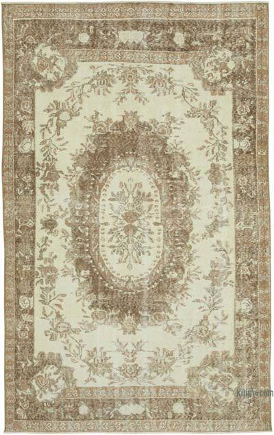 """Vintage Turkish Hand-Knotted Rug - 5' 9"""" x 9' 1"""" (69 in. x 109 in.)"""