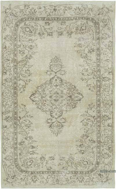 """Vintage Turkish Hand-knotted Area Rug - 5' 2"""" x 8' 2"""" (62 in. x 98 in.)"""