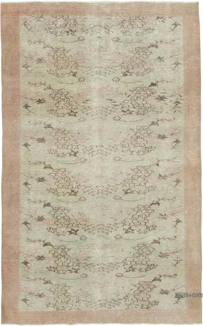 """Vintage Turkish Hand-knotted Area Rug - 5' 4"""" x 8' 5"""" (64 in. x 101 in.)"""