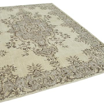 """Vintage Turkish Hand-Knotted Rug - 7' 1"""" x 10' 2"""" (85 in. x 122 in.) - K0050901"""