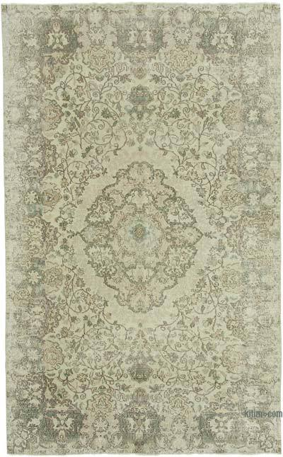 """Vintage Turkish Hand-knotted Area Rug - 6' 10"""" x 10' 9"""" (82 in. x 129 in.)"""