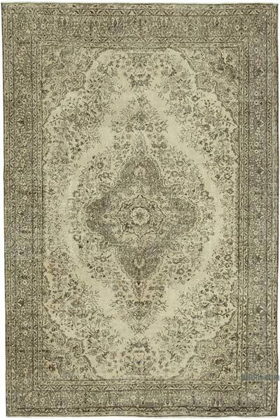 """Vintage Turkish Hand-knotted Area Rug - 6' 11"""" x 10' 3"""" (83 in. x 123 in.)"""