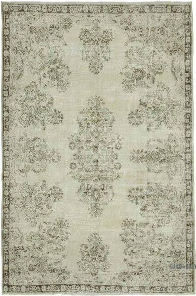 """Vintage Turkish Hand-Knotted Rug - 6' 11"""" x 10' 6"""" (83 in. x 126 in.)"""