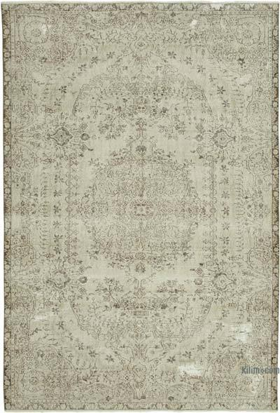 """Vintage Turkish Hand-knotted Area Rug - 6' 11"""" x 10' 1"""" (83 in. x 121 in.)"""