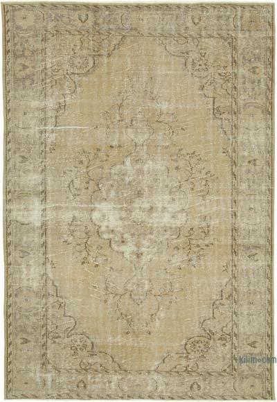 Vintage El Dokuma Anadolu Halısı - 213 cm x 306 cm