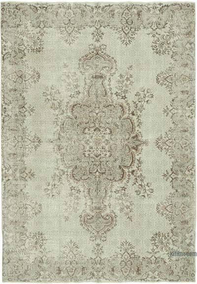 """Vintage Turkish Hand-knotted Area Rug - 7' 1"""" x 10' 1"""" (85 in. x 121 in.)"""