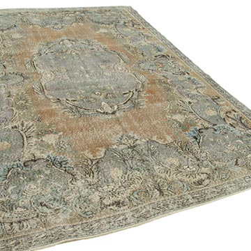 """Vintage Turkish Hand-Knotted Rug - 7'  x 10' 2"""" (84 in. x 122 in.) - K0050930"""