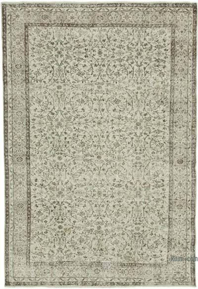 """Vintage Turkish Hand-Knotted Rug - 6' 11"""" x 10' 1"""" (83 in. x 121 in.)"""