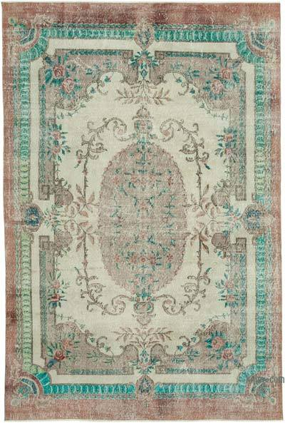 """Vintage Turkish Hand-Knotted Rug - 6' 11"""" x 10' 5"""" (83 in. x 125 in.)"""