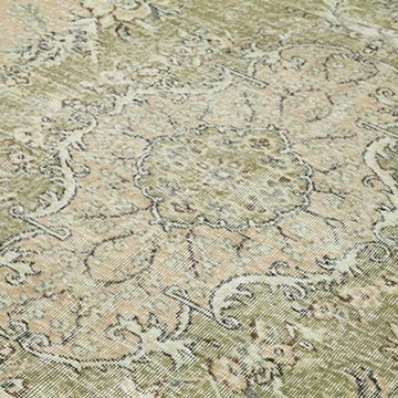 """Vintage Turkish Hand-Knotted Rug - 6' 11"""" x 10' 2"""" (83 in. x 122 in.) - K0050943"""