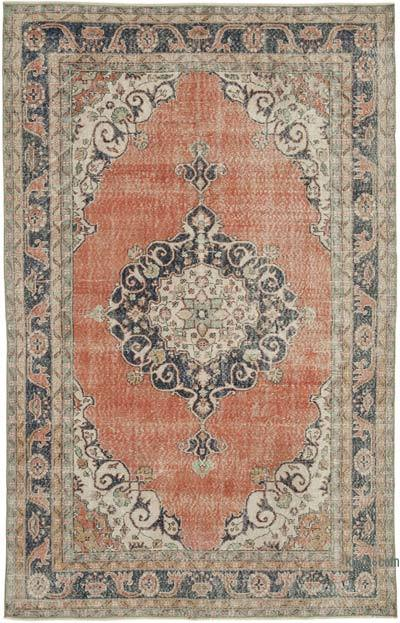 """Vintage Turkish Hand-Knotted Rug - 6' 11"""" x 10' 10"""" (83 in. x 130 in.)"""