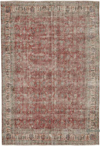 """Vintage Turkish Hand-knotted Area Rug - 6' 11"""" x 10' 2"""" (83 in. x 122 in.)"""