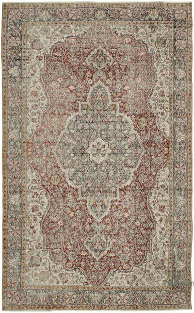 """Vintage Turkish Hand-Knotted Rug - 6' 9"""" x 11' 1"""" (81 in. x 133 in.)"""