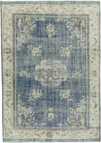 "Vintage Turkish Hand-knotted Area Rug - 7' 1"" x 10' 1"" (85 in. x 121 in.)"
