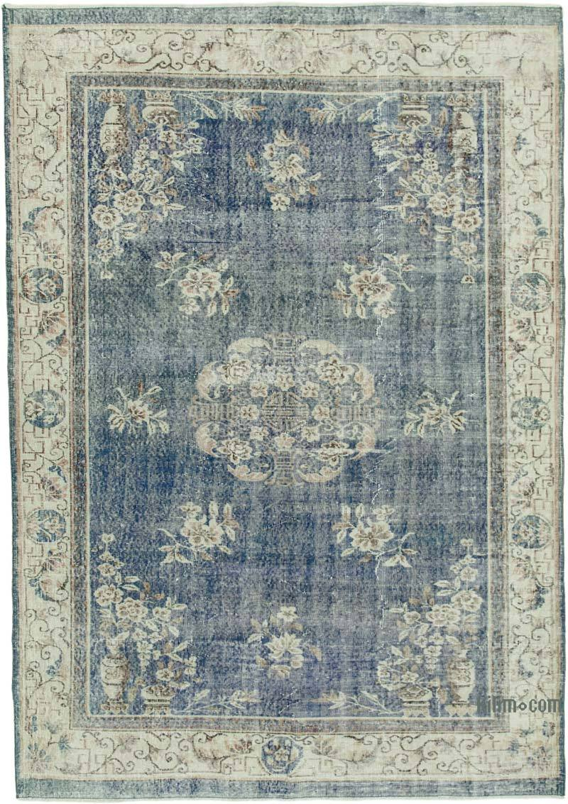 """Vintage Turkish Hand-Knotted Rug - 7' 1"""" x 10' 1"""" (85 in. x 121 in.) - K0050961"""