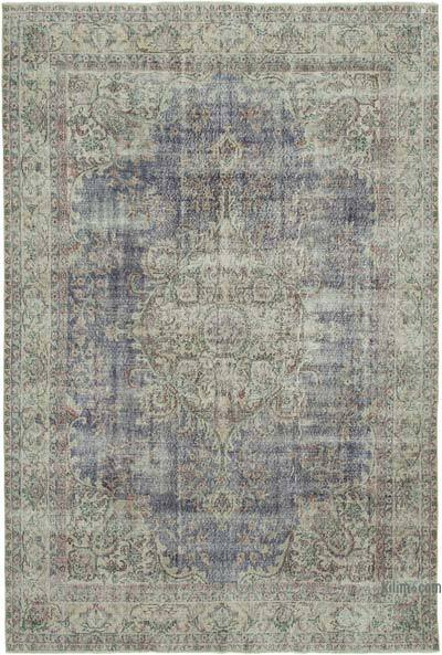 "Vintage Turkish Hand-knotted Area Rug - 7' 5"" x 10' 11"" (89 in. x 131 in.)"