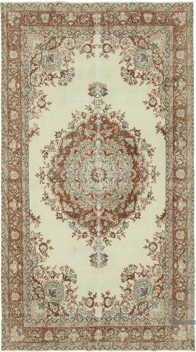 "Vintage Turkish Hand-knotted Area Rug - 6' 3"" x 11' 3"" (75 in. x 135 in.)"