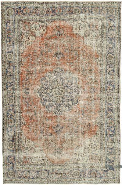 """Vintage Turkish Hand-knotted Area Rug - 6' 9"""" x 10' 4"""" (81 in. x 124 in.)"""