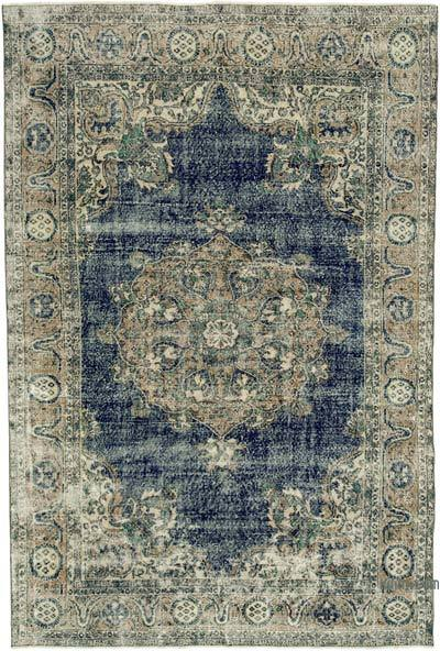 "Vintage Turkish Hand-knotted Area Rug - 7'  x 10' 6"" (84 in. x 126 in.)"