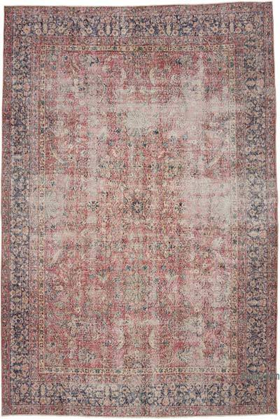 "Vintage Turkish Hand-knotted Area Rug - 7' 7"" x 11' 5"" (91 in. x 137 in.)"