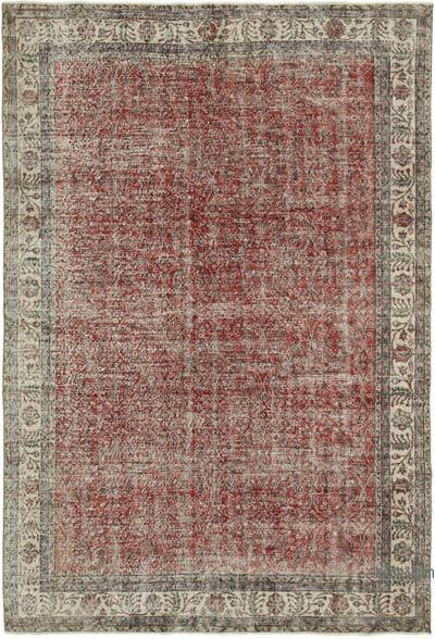 "Vintage Turkish Hand-knotted Area Rug - 7' 1"" x 10' 3"" (85 in. x 123 in.)"
