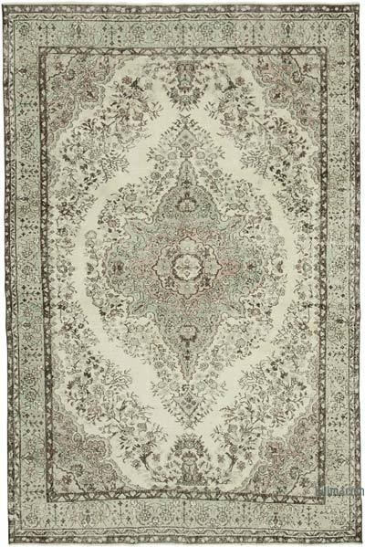 "Vintage Turkish Hand-knotted Area Rug - 6' 9"" x 10' 5"" (81 in. x 125 in.)"