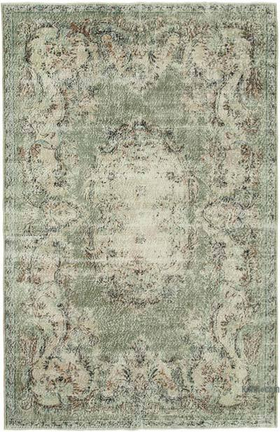 """Vintage Turkish Hand-knotted Area Rug - 6' 9"""" x 10' 7"""" (81 in. x 127 in.)"""