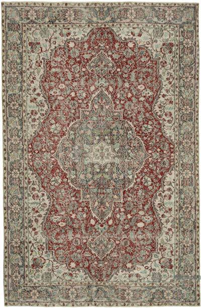 """Vintage Turkish Hand-knotted Area Rug - 7' 2"""" x 10' 8"""" (86 in. x 128 in.)"""