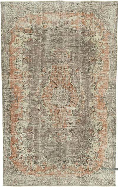 """Vintage Turkish Hand-knotted Area Rug - 6' 8"""" x 10' 6"""" (80 in. x 126 in.)"""