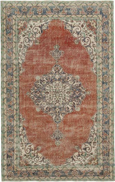 """Vintage Turkish Hand-Knotted Rug - 6' 11"""" x 10' 11"""" (83 in. x 131 in.)"""