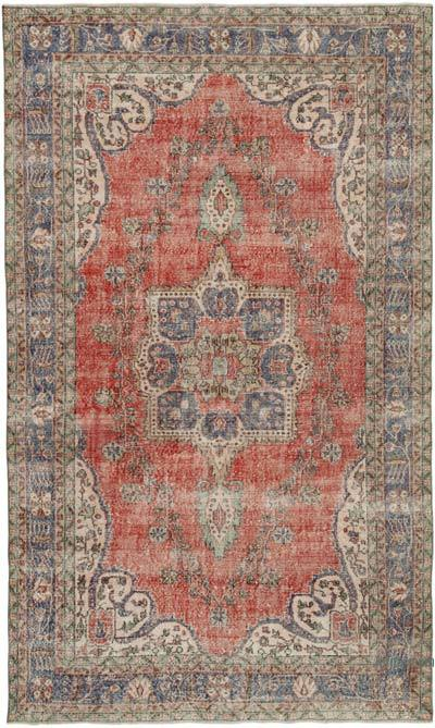 "Vintage Turkish Hand-knotted Area Rug - 6' 5"" x 10' 11"" (77 in. x 131 in.)"