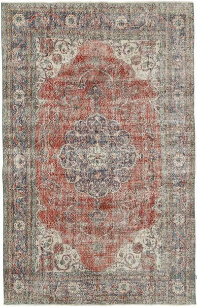 """Vintage Turkish Hand-Knotted Rug - 6' 8"""" x 10' 7"""" (80 in. x 127 in.)"""