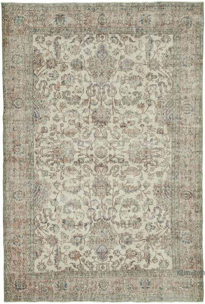 """Vintage Turkish Hand-Knotted Rug - 7' 3"""" x 10' 8"""" (87 in. x 128 in.)"""