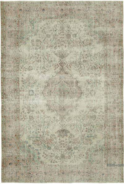 """Vintage Turkish Hand-knotted Area Rug - 6' 10"""" x 10' 2"""" (82 in. x 122 in.)"""