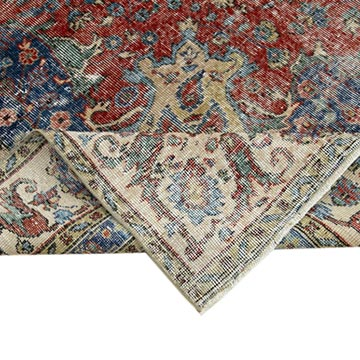 """Vintage Turkish Hand-Knotted Rug - 7' 10"""" x 9' 11"""" (94 in. x 119 in.) - K0051001"""