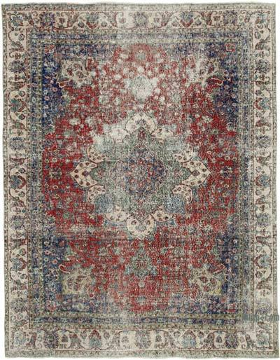 """Vintage Turkish Hand-knotted Area Rug - 7' 10"""" x 9' 11"""" (94 in. x 119 in.)"""