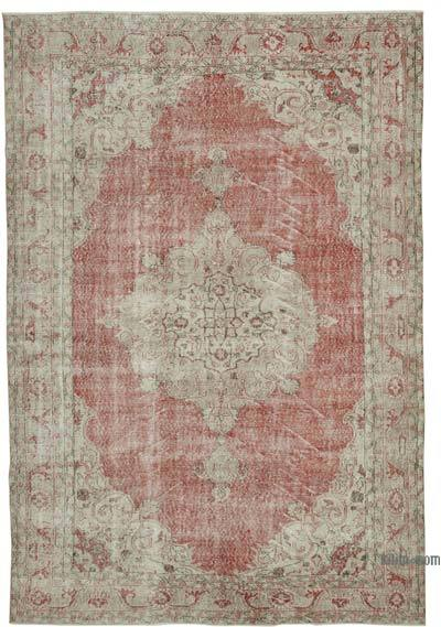 """Vintage Turkish Hand-knotted Area Rug - 7' 4"""" x 10' 9"""" (88 in. x 129 in.)"""