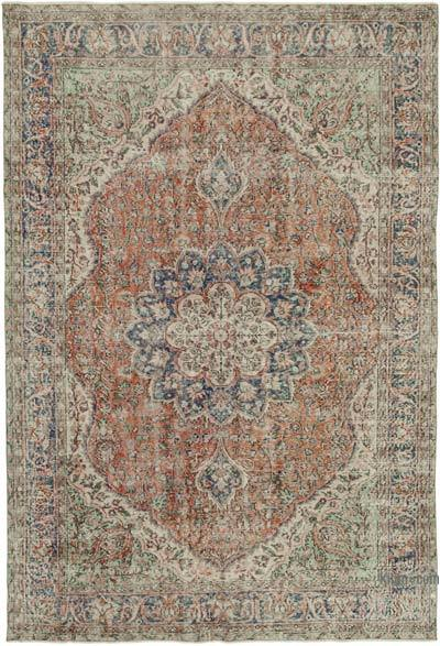 Vintage Turkish Hand-knotted Area Rug - 7'  x 10'  (84 in. x 120 in.)