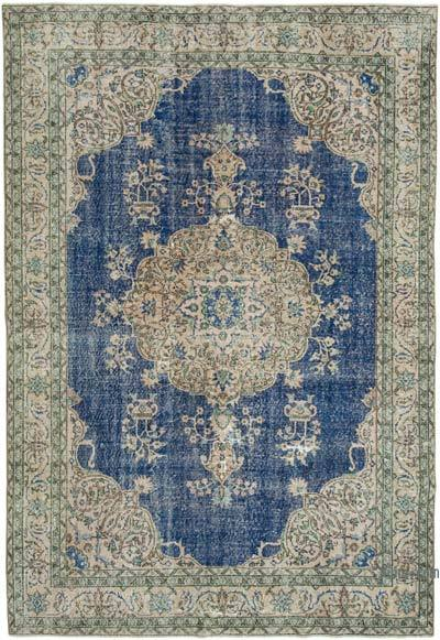 """Vintage Turkish Hand-knotted Area Rug - 7' 3"""" x 10' 5"""" (87 in. x 125 in.)"""