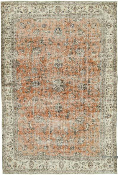 """Vintage Turkish Hand-Knotted Rug - 7' 1"""" x 10' 4"""" (85 in. x 124 in.)"""