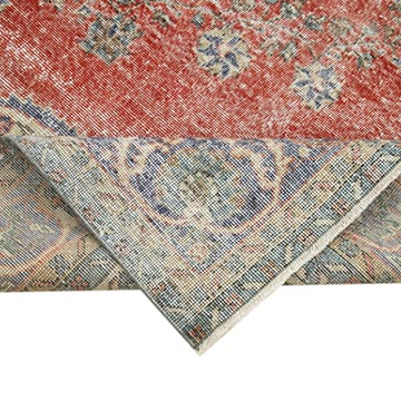 """Vintage Turkish Hand-Knotted Rug - 6' 11"""" x 10' 3"""" (83 in. x 123 in.) - K0051014"""