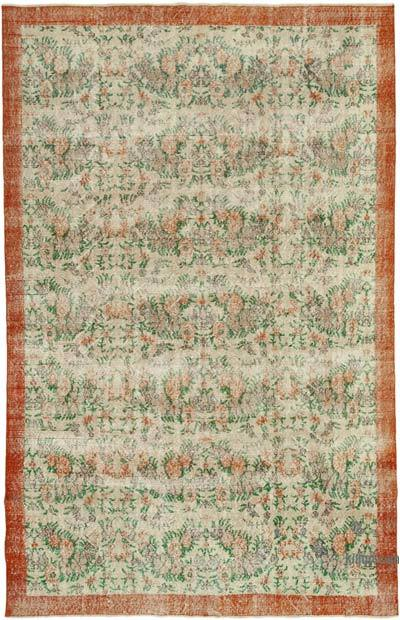 """Vintage Turkish Hand-knotted Area Rug - 7'  x 10' 9"""" (84 in. x 129 in.)"""