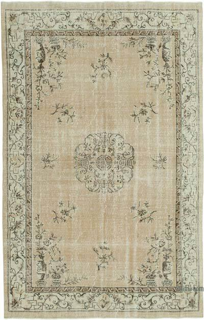 """Vintage Turkish Hand-knotted Area Rug - 6' 9"""" x 10' 6"""" (81 in. x 126 in.)"""