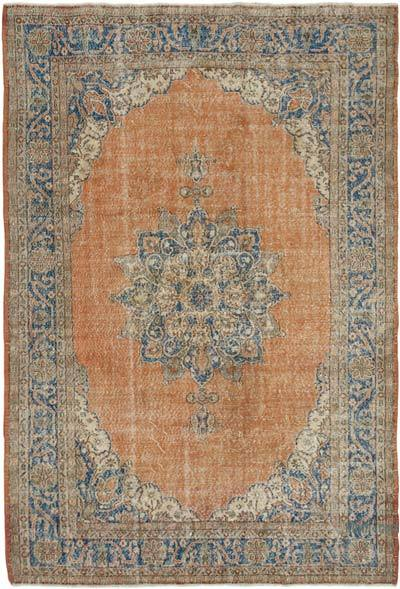 """Vintage Turkish Hand-knotted Area Rug - 7' 8"""" x 11' 2"""" (92 in. x 134 in.)"""