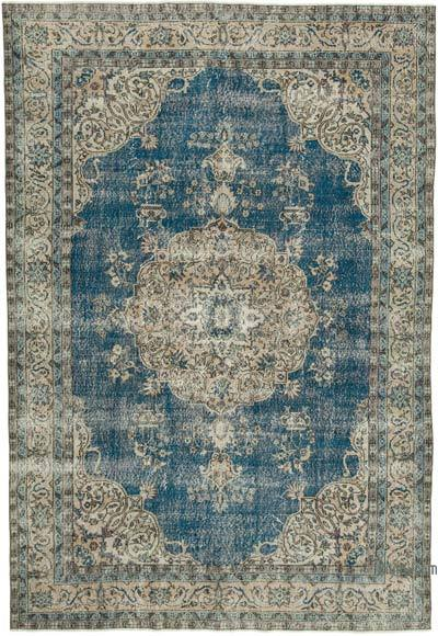 """Vintage Turkish Hand-knotted Area Rug - 7' 2"""" x 10' 3"""" (86 in. x 123 in.)"""