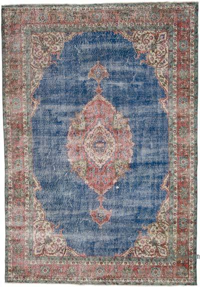 "Vintage Turkish Hand-knotted Area Rug - 7' 3"" x 10' 4"" (87 in. x 124 in.)"
