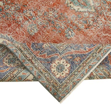 Vintage Turkish Hand-Knotted Rug - 7'  x 10'  (84 in. x 120 in.) - K0051039