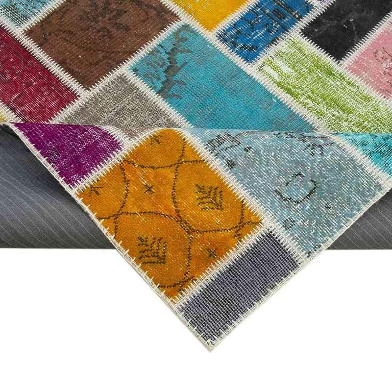 Çok Renkli Boyalı Patchwork Halı - 176 cm x 236 cm - 176 cm x 236 cm - K0051103